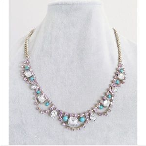 Light Purple & Blue Crystal Necklace